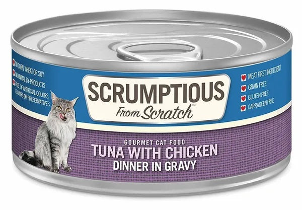 Scrumptious from Scratch Wet Cat Food, Tuna with Chicken, 2.8 oz
