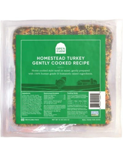 Open Farm Frozen Gently Cooked Homestead Turkey Dog Food