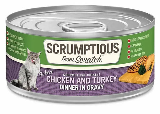 Scrumptious from Scratch Wet Cat Food, Chicken & Turkey, 2.8 oz