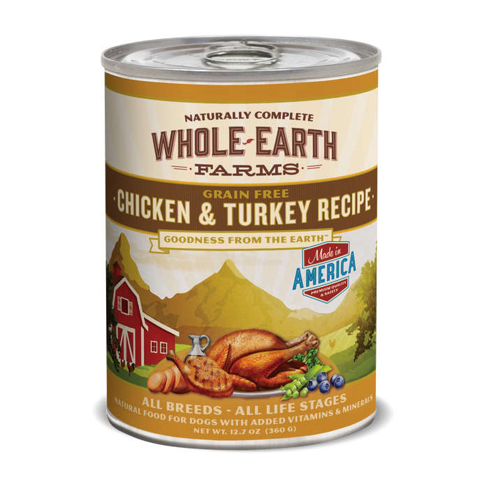 Merrick Whole Earth Farms Chicken & Turkey 12.7 oz