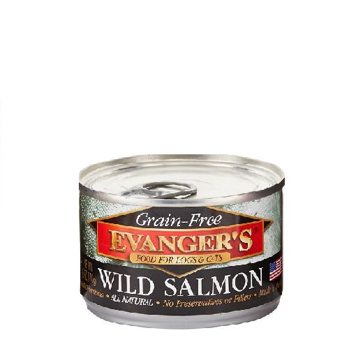 Evanger's Grain Free Wild Salmon For Dogs & Cats 6oz