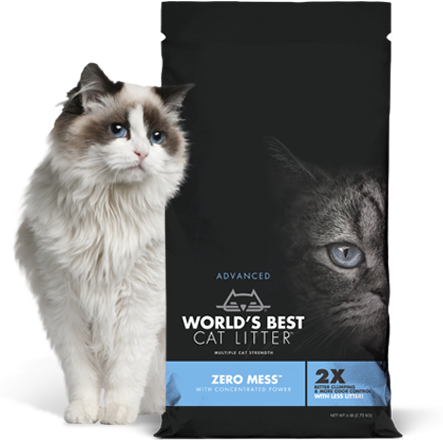 World's Best Litter Zero Mess Unscented Litter