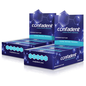 Confadent Dental Chewing Gum Twenty Four Sleeves - 192 Pieces
