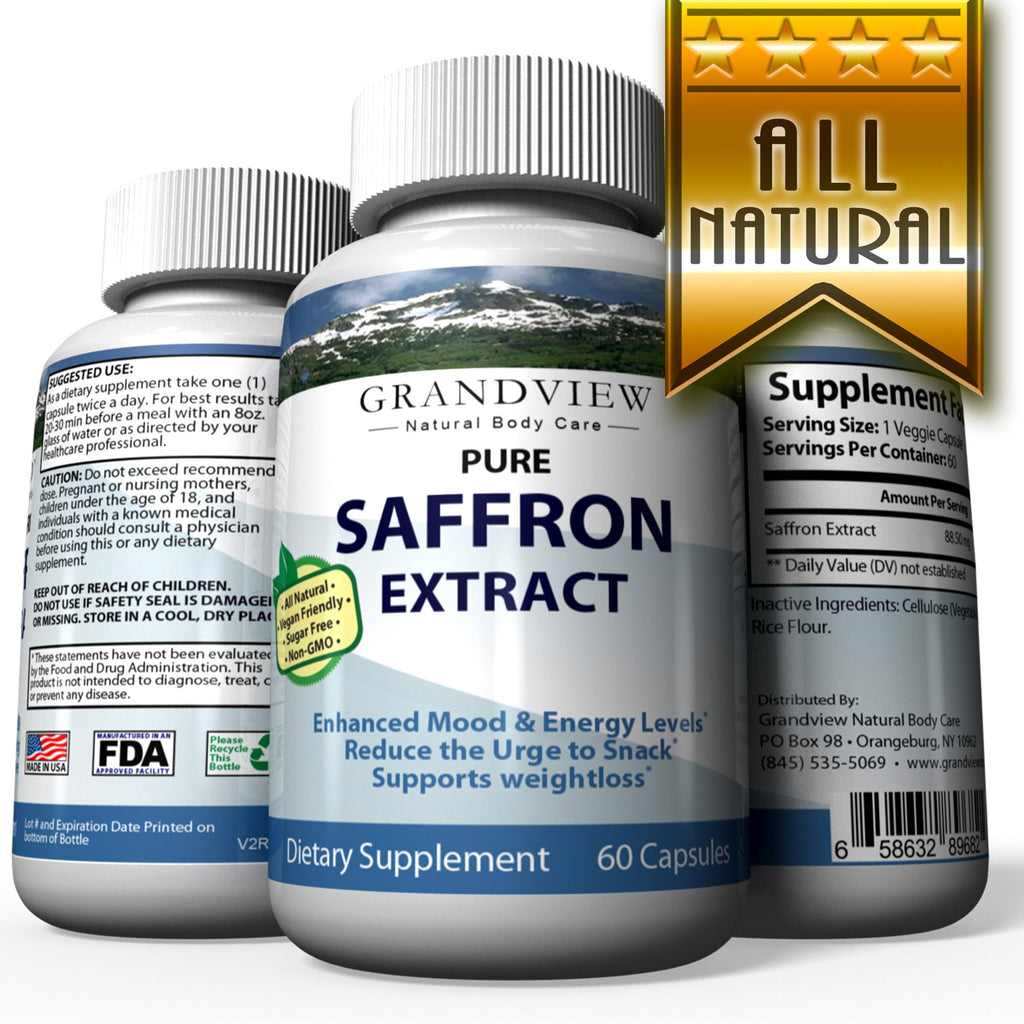 Saffron Pure Supplement Appetite Suppressant Capsules Healthy