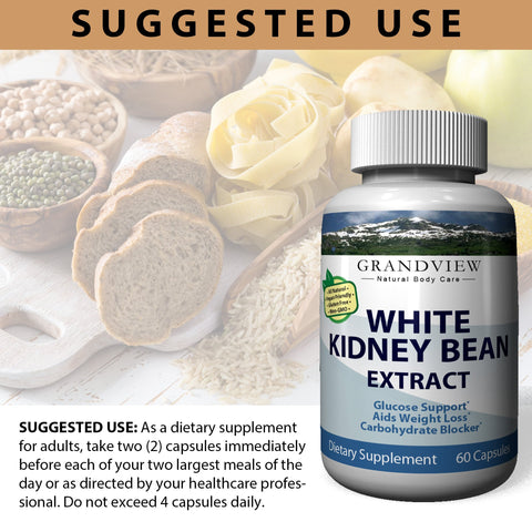 White Kidney Bean - 100% Pure Carb Blocker and Fat Absorber for Weight Loss - Intercept Carbs –