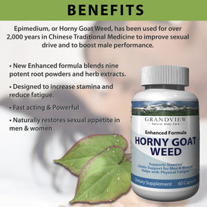 Horny Goat Weed Extract - Best Performance & Natural Boost Increases Stamina &  Desire Enhanced Performance Promotes Healthy Erectile Function Boosts Energy & Reduces Fatigue Improves Blood Flow