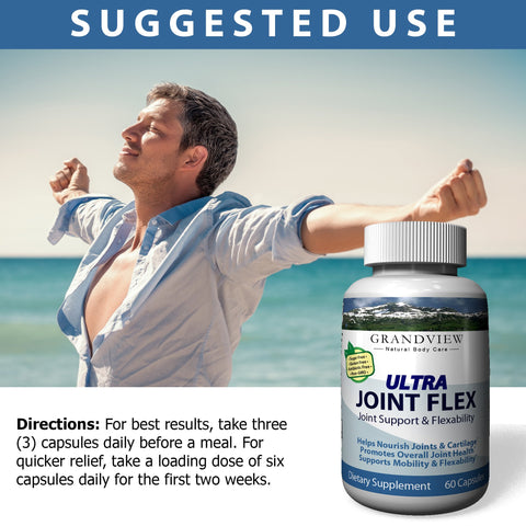 Image of Joint Flex Maintains Healthy Cartilage Provide Flexibility and Mobility Reduces Pain and Inflammation Improves Range of Motion Reduces Swelling - 60 Caps