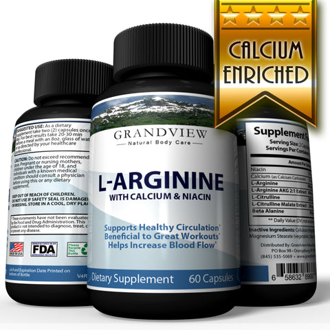 L-Arginine Workout Booster Helps Regulate Blood Pressure Promotes Healthy Kidney Function Boost Energy for Great Workouts Enhances Male Performance with L-Arginine - 60 Capsules
