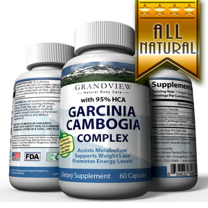 Garcinia Cambogia Extract 95% HCA, Natural Appetite Suppressant And Effective Fat Burner Weight Loss Supplement Pills For Women & Men 60 Capsules