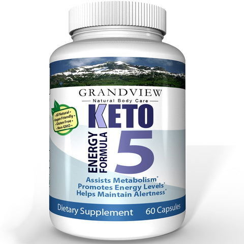 KETO 5 Energy - Supresses Fat Storage. Curbs Appetite. High in Fiber. Rich in Antioxidants. Boosts Energy.