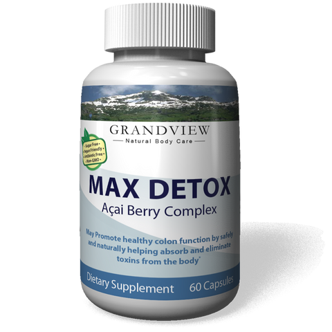 Image of Max Detox Improve Immune Response Helps Protect Cells Aids Maintaining a Health Weight, Youthful Skin, Helps Cleans the Body of Free Radicals - 60 Caps