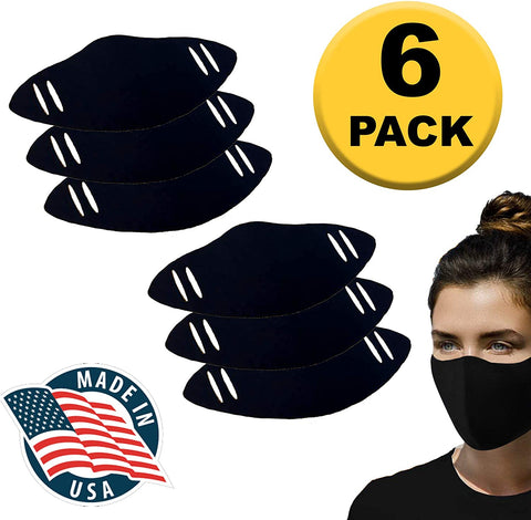 Image of Face Mask - Made in the USA - Solid Black - Reusable and machine washable - by Grandview