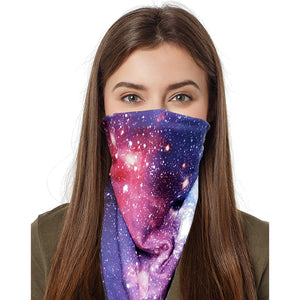 GrandviewNBC Reversible Multi-Functional Face Cover Triangle Mask Bandana for Dust, Outdoors, Festivals, Sports. Fully Reusable & Machine Washable. Use as a Face Mask, Hair Tie, Neckerchief, and More