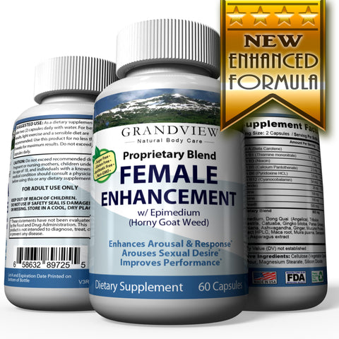 Image of Female Enhancement Heighten Sexual Response Increased Arousal Stress Reducer and Mood Enhancer Aides in Enhanced Sexual Stimulation Enhanced Libido – 60 Capsules