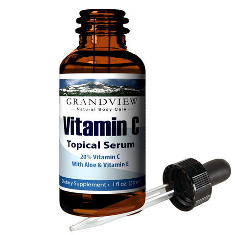 Image of Vitamin C Serum, Skin Care with Hyaluronic Acid, - 1oz (30 ml) Supports a Healthy Immune System, Healthier Looking Skin Hydrates and Promotes Elasticity. Minimize Wrinkles for Smoother Skin. Vitamin C Serum & Hyaluronic Acid Skin