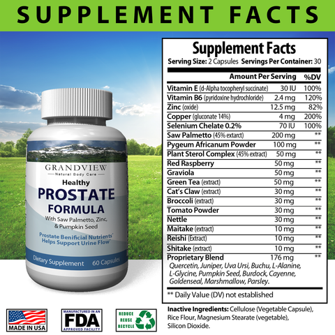 Image of Natural Prostate Formula -Supports Overall Prostate Health And Function - With Saw Palmetto. DHT blocker - 60 capsules