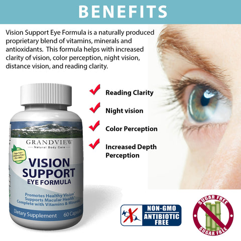 Image of Eye Health Formula Supports Macular Health Overall Vision Clarity Reading Clarity Improved Depth Perception Enhanced Color Perception Night Vision Clarity  - 60 capsules
