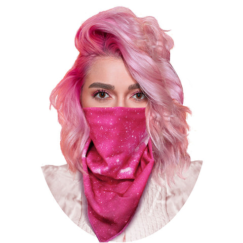 Image of GrandviewNBC Reversible Multi-Functional Face Cover Triangle Mask Bandana for Dust, Outdoors, Festivals, Sports. Fully Reusable & Machine Washable. Use as a Face Mask, Hair Tie, Neckerchief, and More