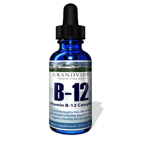 Image of Vitamin B12 Liquid Drops - Best Way To Instantly Boost Energy Levels And Speed Up Metabolism - 2 Fluid Ounces -