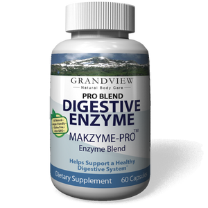 Digestive Enzyme Pro Blend - All Natural Stomach Support For Better Digestion And Nutrient Absorption, Fights Bloating, Gas And Constipation For A Healthy Tummy 60 capsules