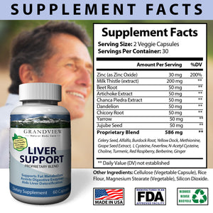 Liver Care Advanced Formula With Milk Thistle, Artichoke And Turmeric - Natural Liver Health Support & Protection For Optimal Function