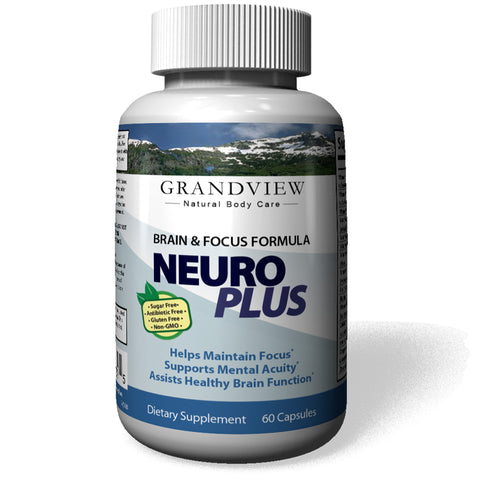 Image of NeuroPlus Brain Booster Focus That Supports Mental Alertness, Memory, Focus, and Concentration - Made in Our Lab in Utah, 60 capsules