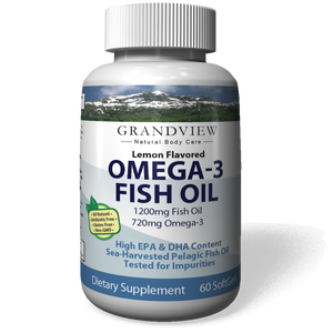Omega 3 Pure Fish Oil - Rich in EPA & DHA Helps Maintain Healthy Cholesterol Levels Supports Cardio-vascular Health Joint Support  Reduce Symptoms of PMS and Cramping Helps Lower Triglycerides, 60 capsules