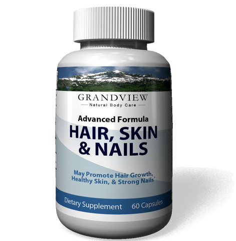 Image of HAIR, SKIN & NAILS Care Provides Strength, Structure, and Body to Hair. Promotes Strong Healthy Nails. Helps  Hydrates Skin for a Healthier Complexion Healthy Blood Cell Growth - 60 Capsules