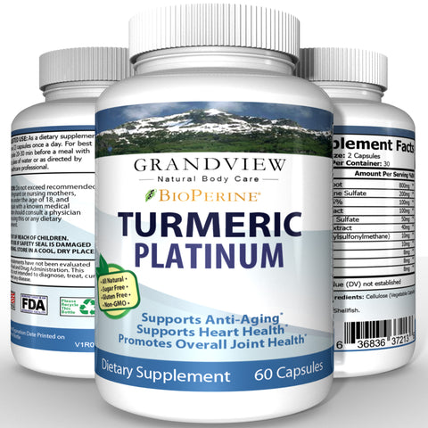 Image of Platinum Turmeric Powerful Anti-Inflammatory Promotes Healthy Digestion Regulates Metabolism Weight Loss Helps Maintain Healthy Blood Pressure