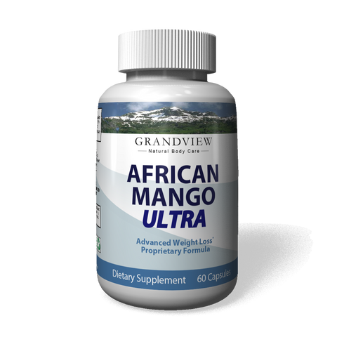 Image of African Mango Ultra. Suppresses Appetite Increases Metabolism Improved Energy Levels Helps Raise HDL (Good Cholesterol) Helps Lower LDL (Bad Cholesterol) Ultra Weightloss 60 Capsules