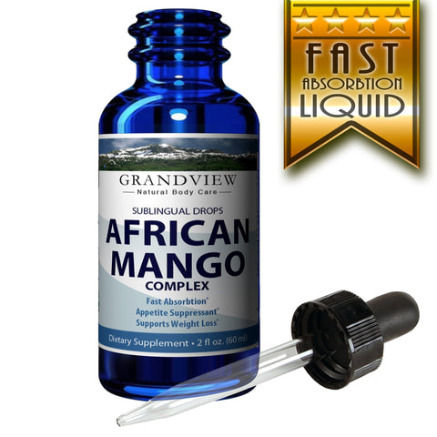 Image of African Mango Drops. 2fl oz, Natural Complex for Healthy Weight Loss Diet Drops, Appetite Suppressant, Metabolism Booster,  Fat Burning Supplement 120 servings