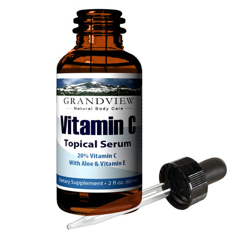 Image of Vitamin C Serum, Skin Care with Hyaluronic Acid, - 2 fl oz. (60 ml) Supports a Healthy Immune System, Healthier Looking Skin Hydrates and Promotes Elasticity. Minimize Wrinkles for Smoother Skin. Vitamin C Serum & Hyaluronic Acid Skin