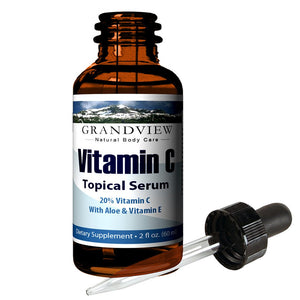 Vitamin C Serum, Skin Care with Hyaluronic Acid, - 2 fl oz. (60 ml) Supports a Healthy Immune System, Healthier Looking Skin Hydrates and Promotes Elasticity. Minimize Wrinkles for Smoother Skin. Vitamin C Serum & Hyaluronic Acid Skin