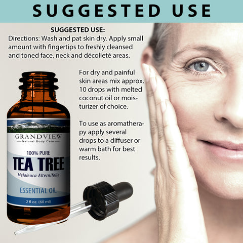Image of Tea Tree Oil - Moisturizes dry skin. Calms Irritation. Combats oiliness. Soothes itchiness. Promotes clear skin.