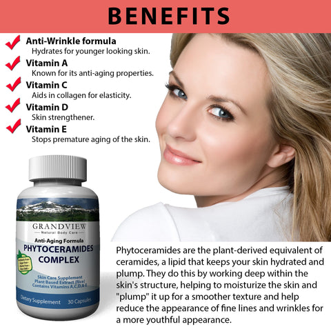 Image of Phytoceramides Premium Skin Care Anti-Aging Formula - Proven To Renew The Skin And Keep It Healthy, Youthful And Radiant - 30 capsules
