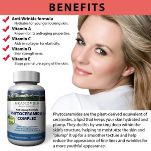 Phytoceramides Premium Skin Care Anti-Aging Formula - Proven To Renew The Skin And Keep It Healthy, Youthful And Radiant - 30 capsules