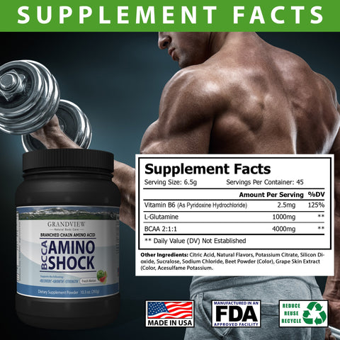 Image of BCAA Shock Powder (Melon) Speeds Recovery Supports Lean Muscle Growth Enhances Performance Promotes Tissue Repair Reduces Muscle Breakdown 292 Grams, 45 servings