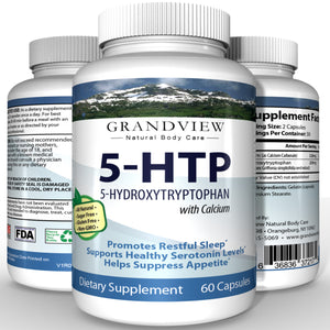 5-HTP - Boosts mood. Controls appetite . Supports weight loss. Natural sleep aid. Promotes Health Serotonin Levels.