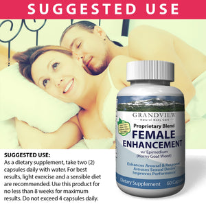 Female Enhancement Heighten Sexual Response Increased Arousal Stress Reducer and Mood Enhancer Aides in Enhanced Sexual Stimulation Enhanced Libido – 60 Capsules
