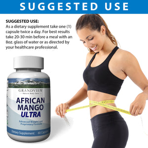 African Mango Ultra. Suppresses Appetite Increases Metabolism Improved Energy Levels Helps Raise HDL (Good Cholesterol) Helps Lower LDL (Bad Cholesterol) Ultra Weightloss 60 Capsules