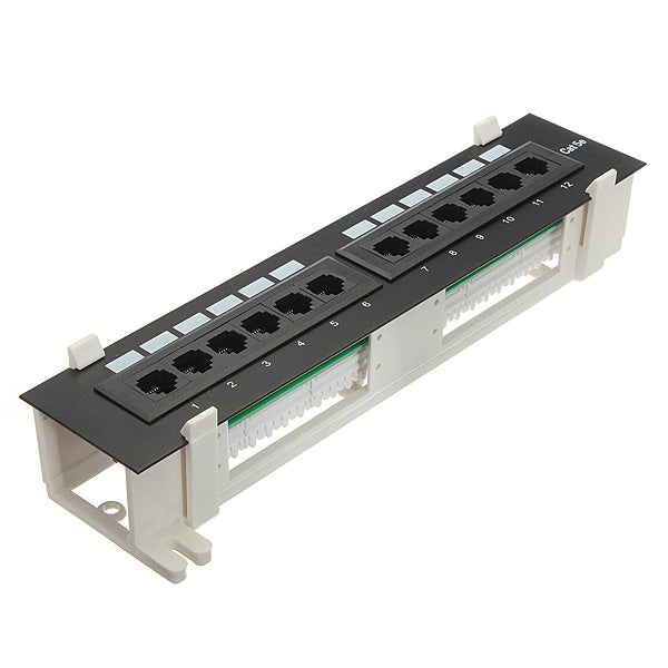 12 port RJ45 patch panel for wall mounting