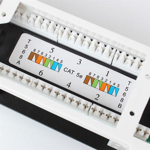 12 port RJ45 patch panel with Krone connectors