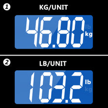 Bathroom scales display in kilograms or pounds