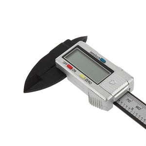 1Pcs 6 inch 150 mm Digital Electronic Caliper Ruler Carbon Fiber Composite Vernier High Quality