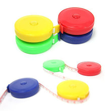 150 cm measuring tape in yellow, red, blue and green
