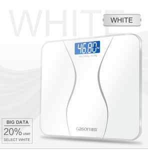 GASON A2 Bathroom Body Scales Glass Smart Household Electronic Digital Weight LCD Display 180KG