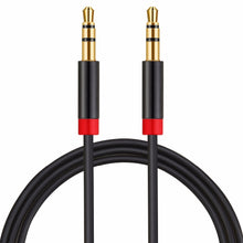 aux cable 3.5 mm in black with gold connectors