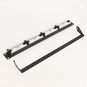 24 RJ45 Port CAT5E / Cat 6 Patch Panel 1U for 19 Inch Rack Mount for Ethernet Network or telephony