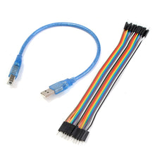 USB and jumper cables for Arduino
