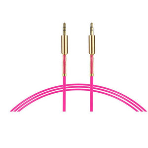 pink 3.5 mm stereo cable 1 metre